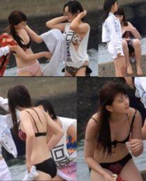 原版切出FHD「佐〇木希激似美J〇のビーチでお着替え下着でウロウロ」