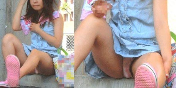 ろり少女のきわど過ぎるパンチラ姿を盗撮