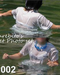 WET写真集 C002 服のまま川遊び
