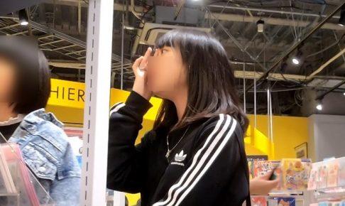 美少女JKのチュッパチャップス柄パンチラ