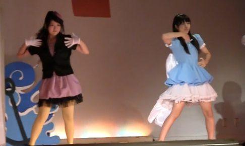 文化祭のミュージカルでパンチラする女子高生