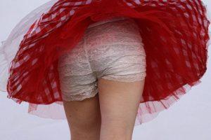 【オリジナル撮影265枚】アンスコの生地が薄すぎて生パン透け透け 「踊ってみた」写真集01【レビュー】