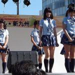 """""""アイドルのメッカ""""福岡ローカルアイドルさん、相変わらずの縞々パンチラが素晴らしいww"""
