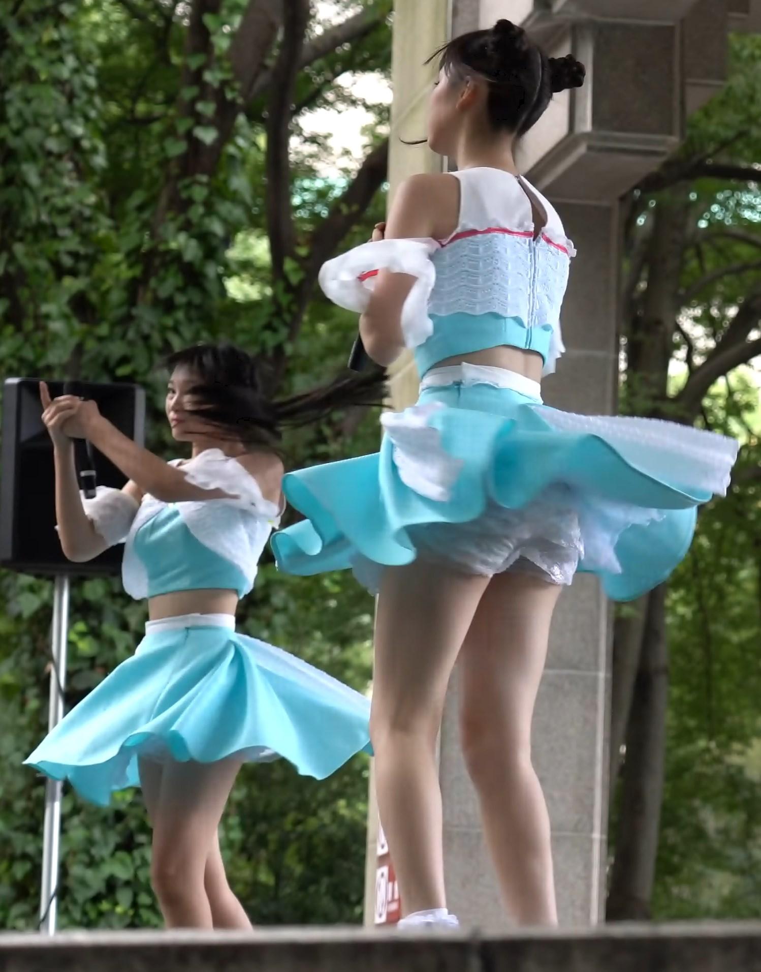 超高画質で見る美少女アイドルのお宝ターン映像