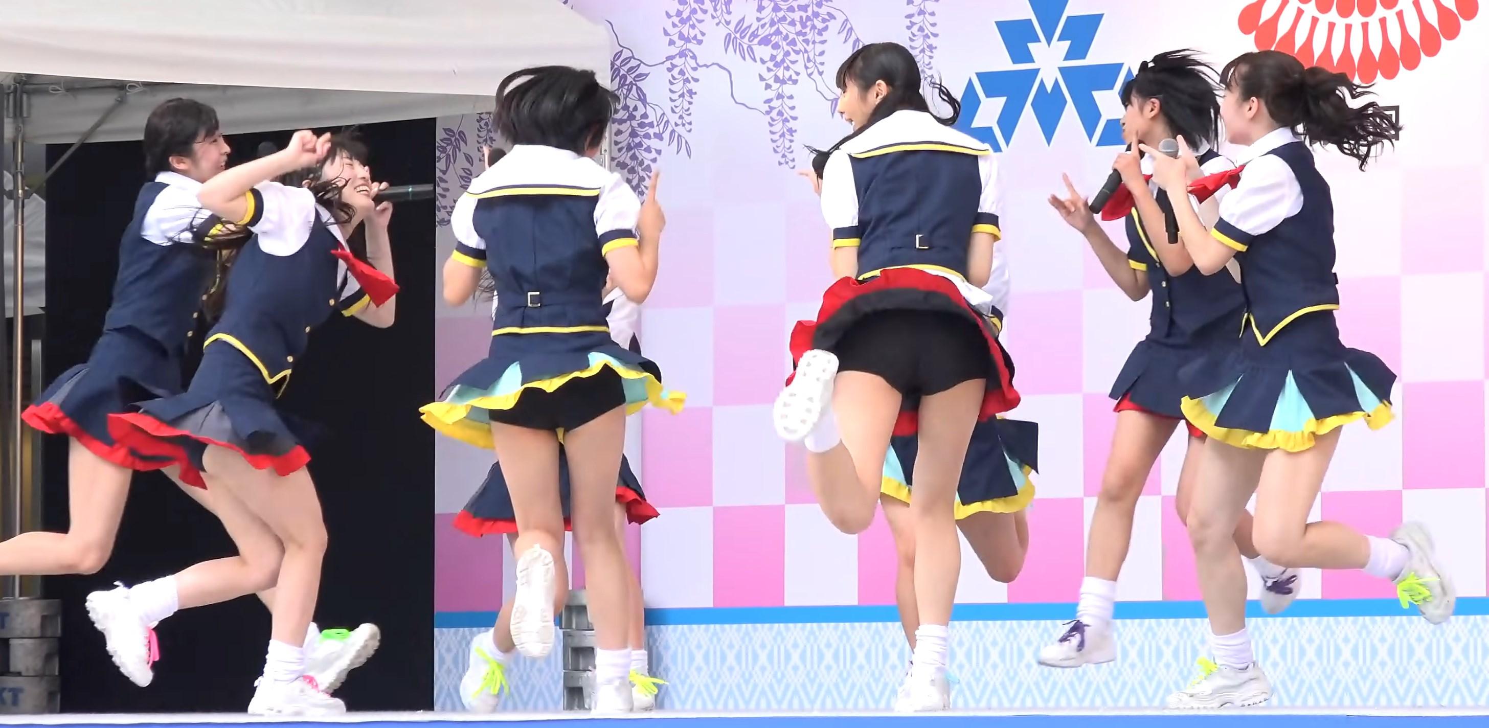福岡の美少女アイドルグループ「HR」のお宝パンチラ