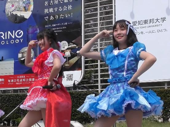 ブルマでのハイキックが熱い!ローカルアイドルの野外イベント映像!