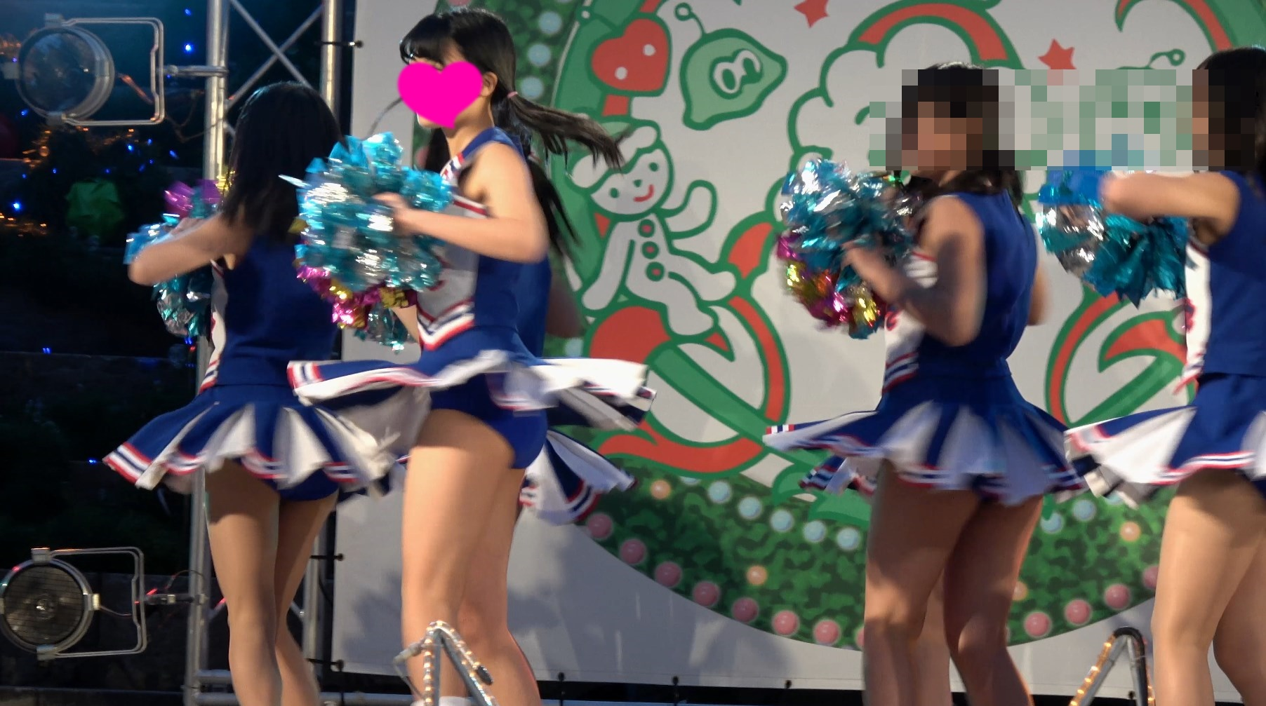 【4K高画質】チア2 無名青アンスコチームなのに可愛すぎ!全員アイドル並奇跡の世代!Part1【超Kの者】