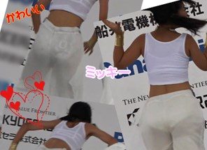 衝撃!カワイイあの子のパンツ透け透け♡ダンス!