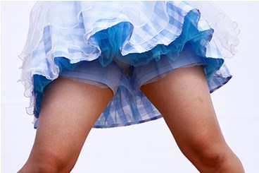 【オリジナル撮影265枚】アンスコの生地が薄すぎて生パン透け透け 「踊ってみた」写真集01