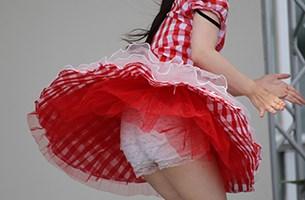 【オリジナル撮影232枚】アンスコの生地が薄すぎて生パン透け透け「踊ってみた」写真集02
