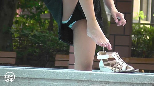 未来の坂本:モデル体型 美少女の水浴び リマスター