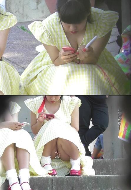 orignate-pcolle:上も下もちらちらしてる女の子~動画~下Ver