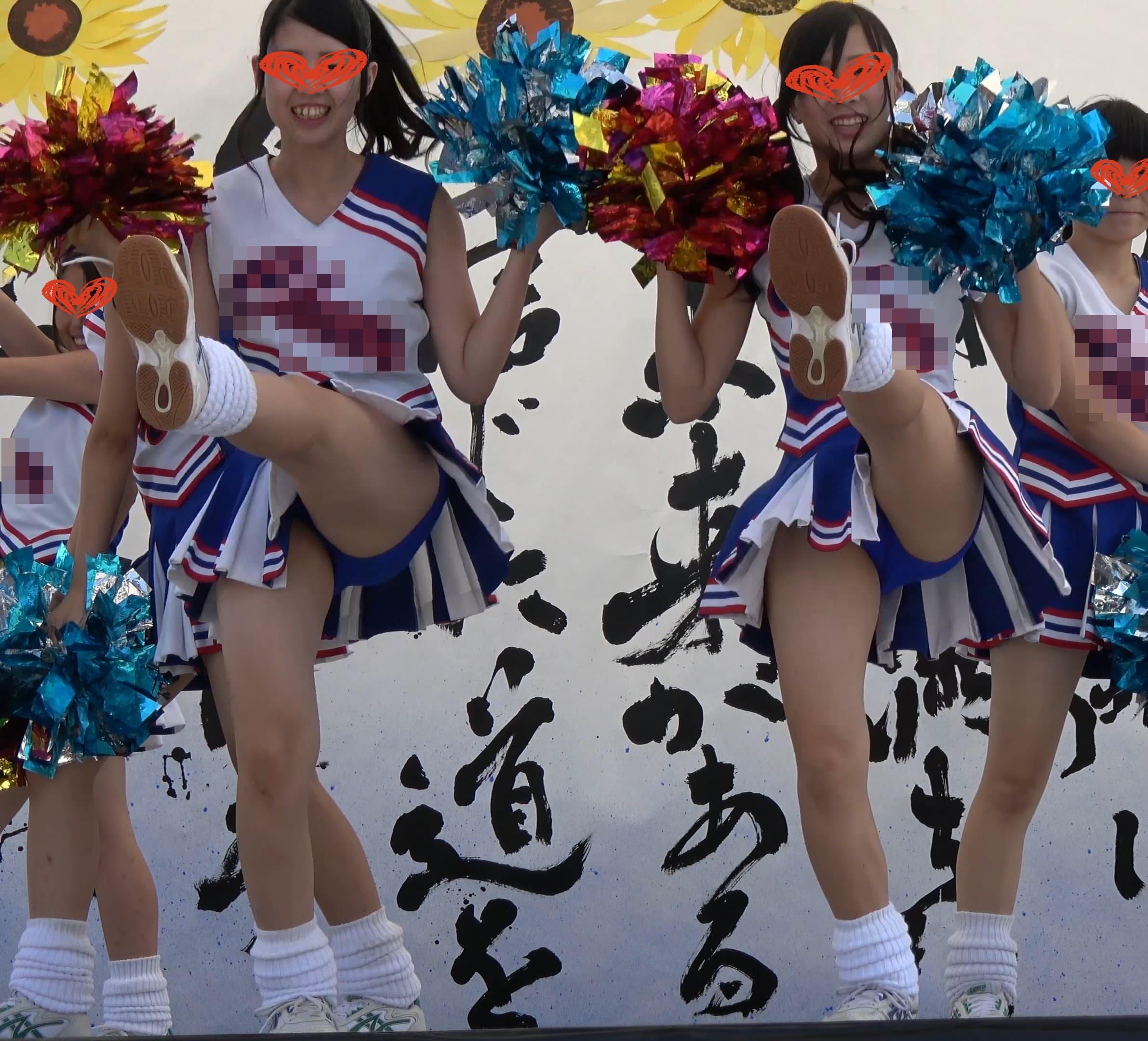 【4K高画質】チア7 無名青アンスコチームなのに可愛すぎ!全員アイドル並奇跡の世代!Part.2【超Kの者】画像つき詳細レビュー