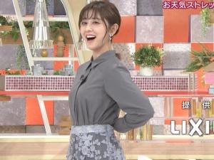 斎藤ちはるアナ 横乳を揺する!【GIF動画あり】