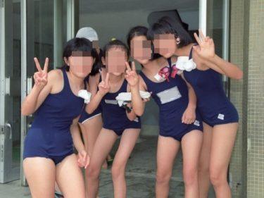 スク水娘のグランドでの準備体操から水泳授業までの静止画142枚(MICK88:swim race sw161)