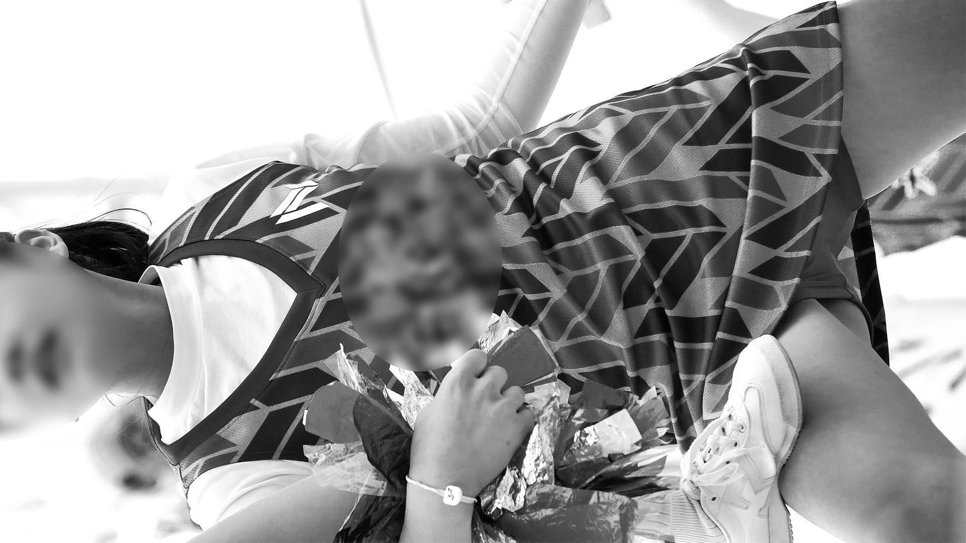 伝説のチアチーム演技。鮮明な4K映像で股間がぐっしょり濡れている事が判明してしまう(すぽチァン:ぷるぷるチア 4K(03))
