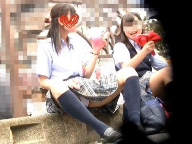 アイドル予備軍:可愛い優等生J○の祭りでのお座り