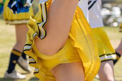 快晴の野外ステージで黄色アンスコがスケスケになってしまう超人気チアチームの静止画(解像チア:チアフル! vol.41)