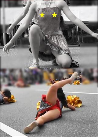 ノーブラで胸ポチ&乳揺れしちゃう娘たちのお祭りダンスステージ(LOVE☆2代目:再発見!ノーブ&チラダンス)