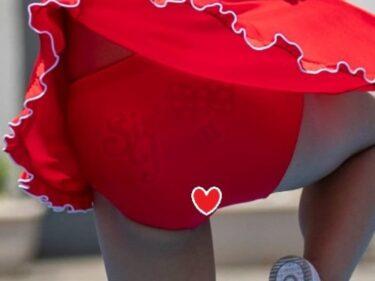 日差しが強すぎてSweetバトンチアの赤アンスコがスケスケになってしまう静止画178枚(アンスコ泥棒:【写真高画質】バトン2)