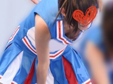衣装が大きくてブラチラしまくるスレンダーJKチア+JD&CUTEチアダンス静止画(時雨:JKチアJDダンスVol.13)