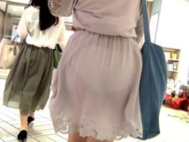 スカートの裏地がめくれ上がって透けパンしまくりの私服JKを追跡&盗撮(Pcolle:サラス)