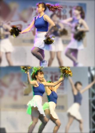 美人JDたちによる胸を強調した衣装でのチアダンス動画(LOVE☆2代目:学祭 チア☆ダン)